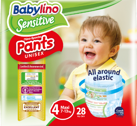 babylino sensitive unisex diaper nappy pants size 4