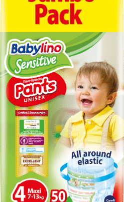 babylino sensitive unisex diaper nappy pants size 4 jumbo pack