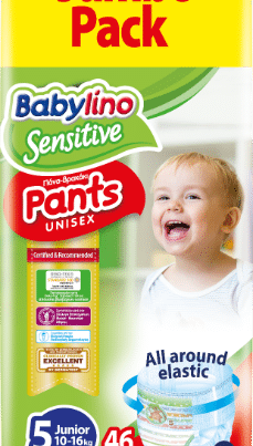 babylino sensitive unisex diaper nappy pants size 5 jumbo pack