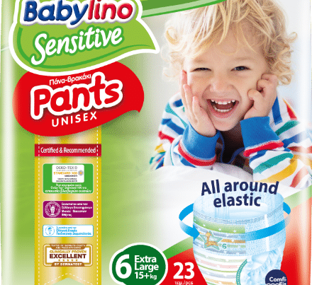 babylino sensitive unisex diaper nappy pants size 6