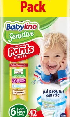 babylino sensitive unisex diaper nappy pants size 6 jumbo pack