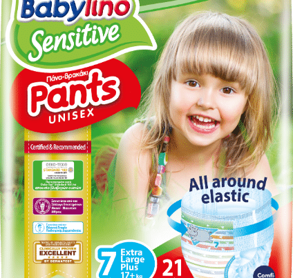 babylino sensitive unisex diaper nappy pants size 7