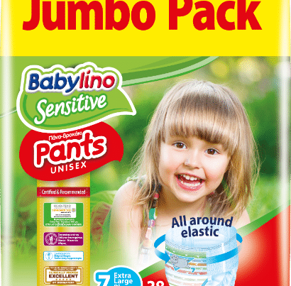 babylino sensitive unisex diaper nappy pants size 7 jumbo pack