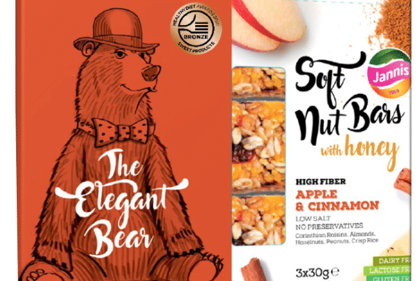 Jannis soft nuts bars the elegant bear with apple and cinnamon bars
