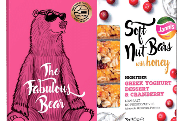 Jannis soft nuts bar the fabolous bear, greek yogurt dessert and cranberries