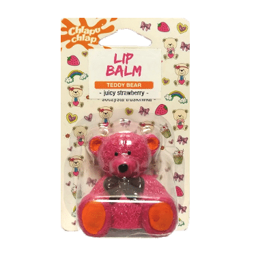 chlapu chlap teddy bear strawberry lip balm-w440-h500