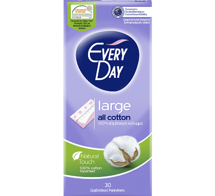 everyday all cotton pantyliners large
