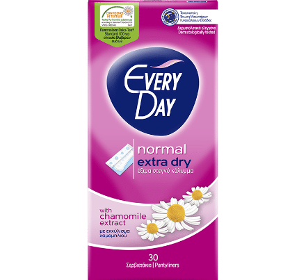 everyday pantyliners extra dry normal