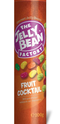jelly beans fruit cocktail flavour tube