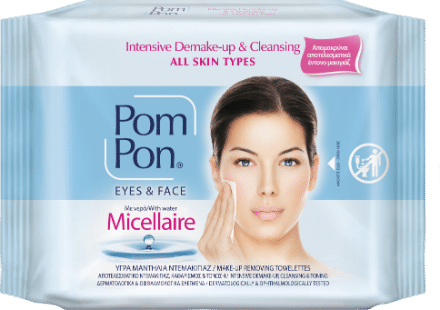 PomPon make up remover wipes all skin types with micellaire
