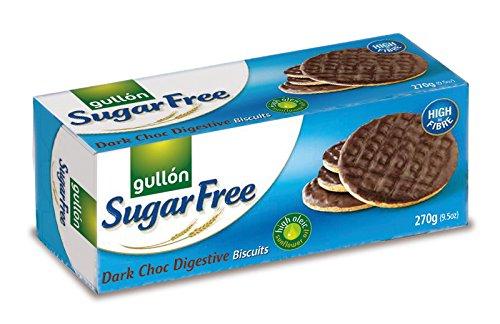 gullon sugar free dark chocolate digestive biscuits