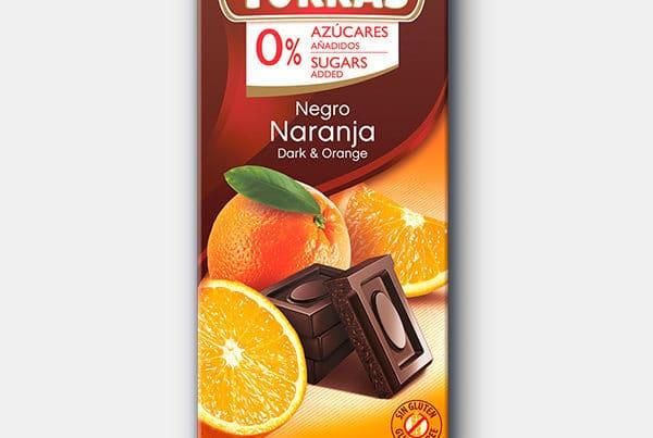 torras sugar free dark chocolate and orange