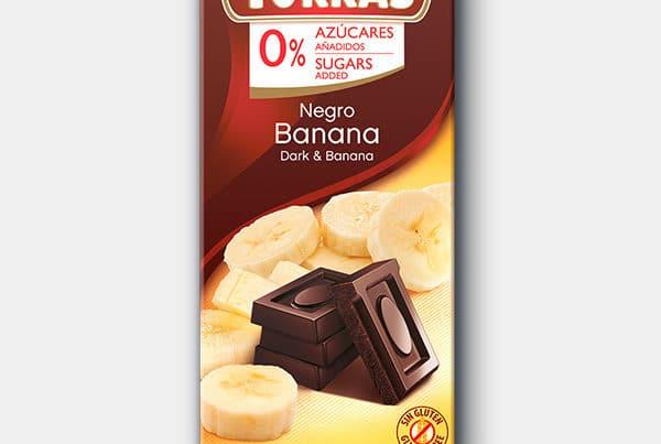 torras sugar free dark chocolate with banana