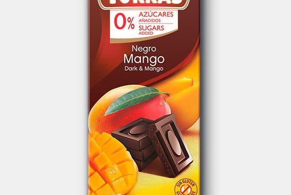 torras sugar free dark chocolate with mango