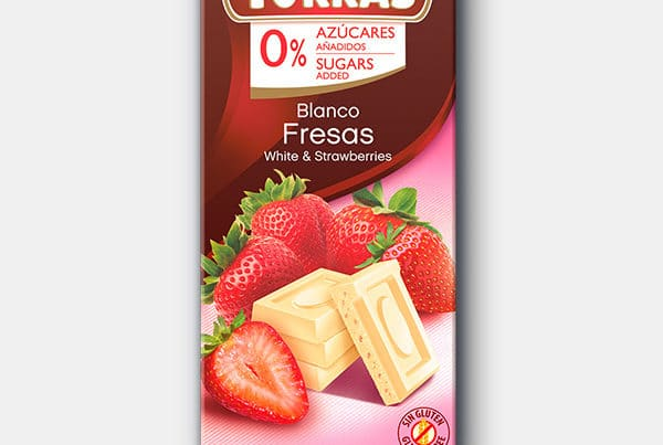 torras sugar free white chocolate and strawberry