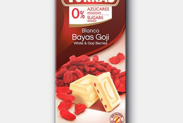 torras sugar white chocolate with goji berries