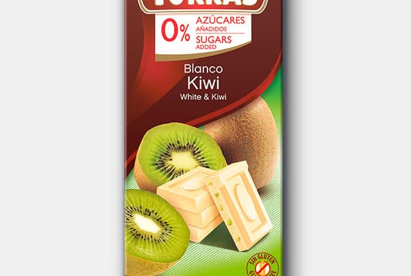 torras sugar free white chocolate with kiwi