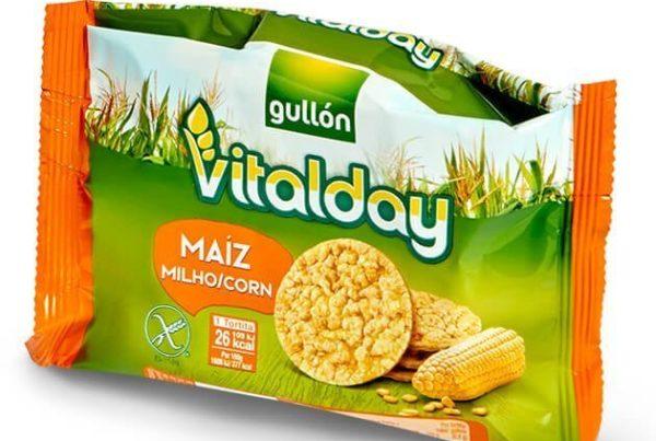 vitalday corn cakes plain