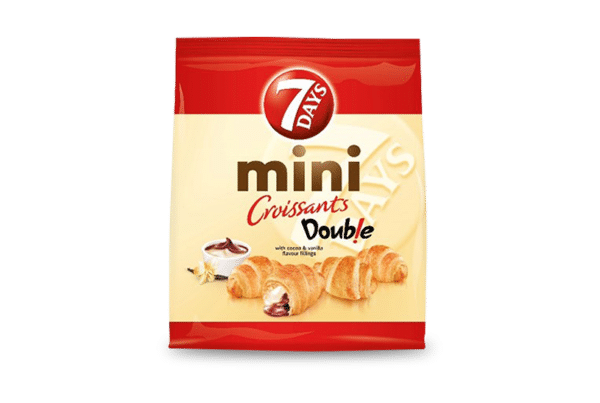 7days double mini croissant chocolate and vanilla