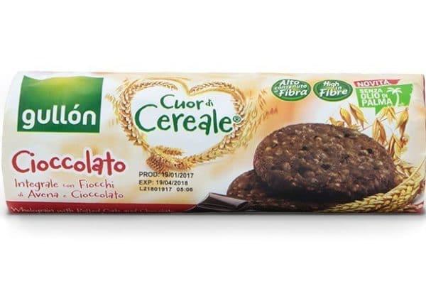 gullon cuor di cereale cioccolato