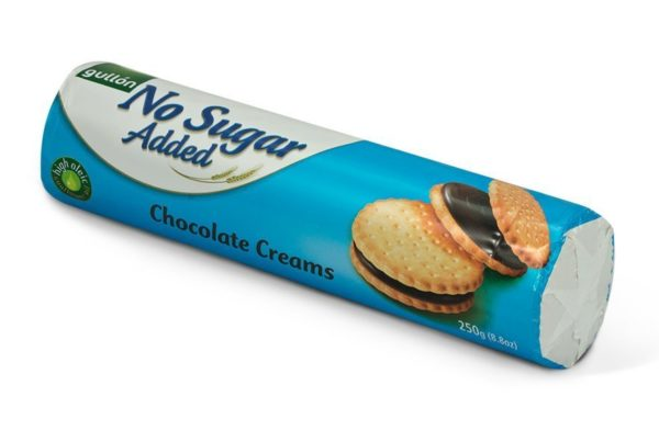 gullon no sugar added chocolate cream biscuits