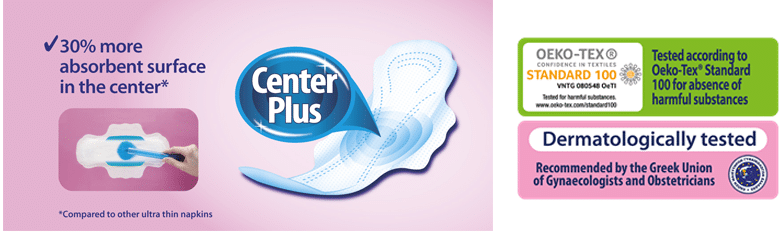 Everyday pads centre plus technology and okeo tex standard
