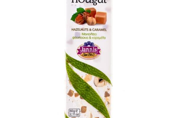 Nougat bar with caramel & hazelnut 60g