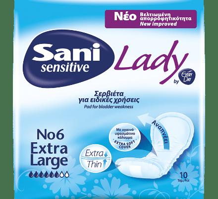 sani sensitive lady extra large size 6