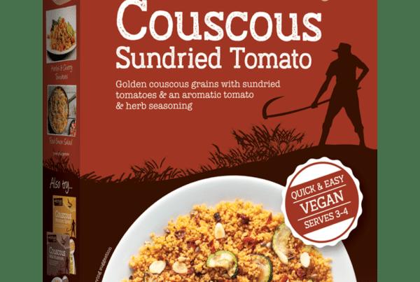 artisan sundried tomato vegan couscous