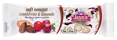 soft cranberries nougat and almond
