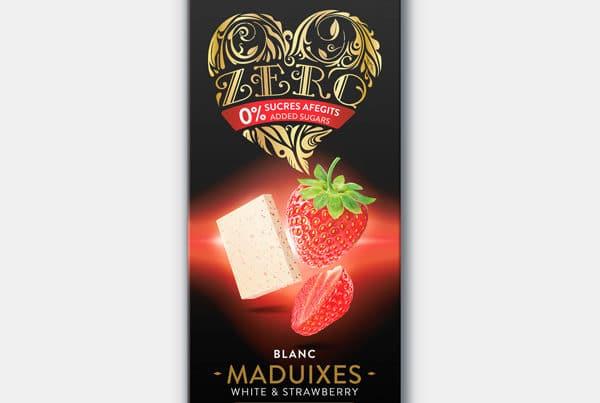 torras zero white chocolate with strawberries