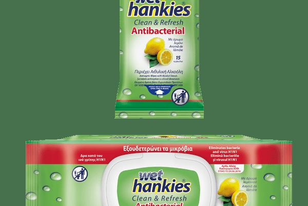 wet hankies lemon antibacterial
