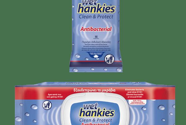 wet hankies wipes antibacterial