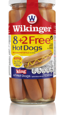 wikinger sausages hot dogs x 8+2 free pieces-w440-h500