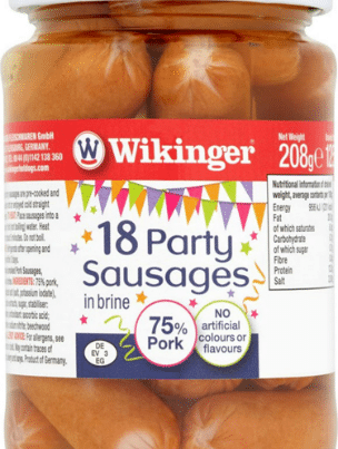 wikinger sparty sausages, cocktail sausages x 18 pieces-w440-h500