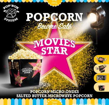 pop box popcorn movie stars salted butter microwave popcorn