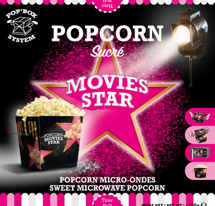 pop box popcorn movie stars sweet flavour