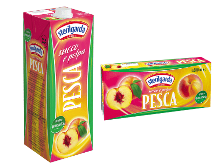Sterilgarda juice peach large and small packs