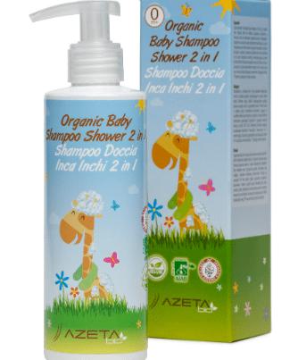 azeta bio organic baby shower shampoo