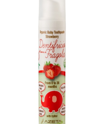 azeta bio organic toothpaste 0-36 months strawberry