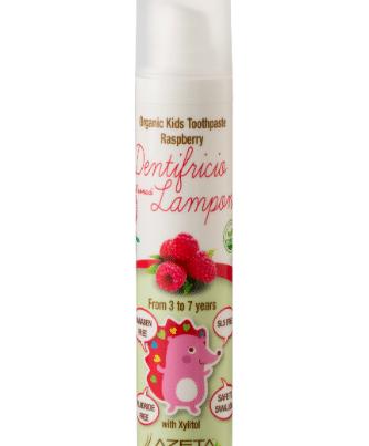 azeta bio organic toothpaste 3-7 years raspberry -w440-h500