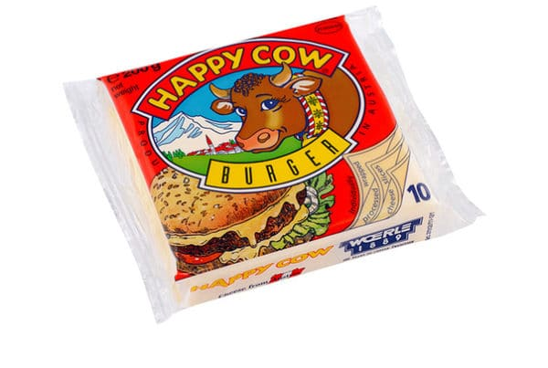 happy cow sliced cheese burgers