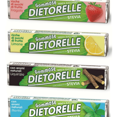 dietorelle gommose liqourice, strawberry, lemon and mint stick