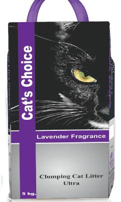 indian cat litter lavender 5 kg bag
