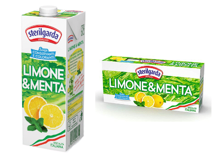 lemon and mint steriilgarda juices large and small-