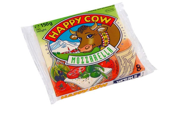 happy cow mozzarella slices