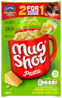 mug shot cream cheese pasta packets 68gr