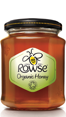 rowse clear organic honey340gr in jar-w440-h500
