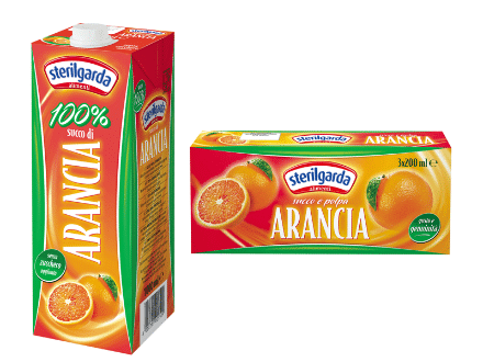sterilgarda juices orange large and small packs