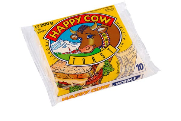 happy cow sliced cheese toast